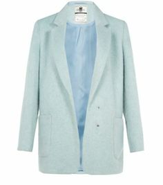 In a luxe mohair finish, this Mint Green Double Pocket Textured Coat is just lovely.