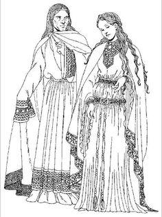 """Yolande de Dreux, Queen of Scots"": http://thefreelancehistorywriter.com/2014/07/25/yolande-de-dreux-queen-of-scots/ Image: 12th C French Attire"