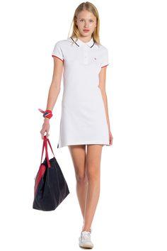 Vestido Polo Liso Blanco