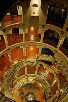 Mission Inn Rotunda Stairway. Riverside, CA via flickr