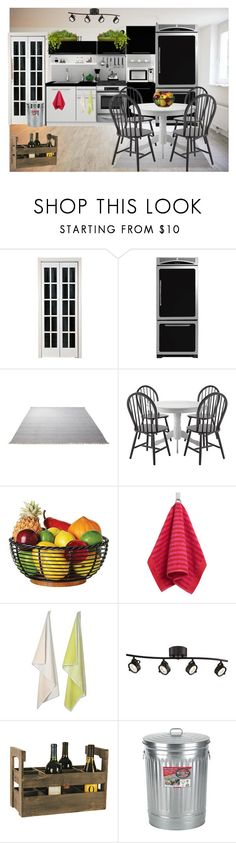 """little kitchen"" by supercubana ❤ liked on Polyvore featuring interior, interiors, interior design, home, home decor, interior decorating, Universal, ESPRIT, KitchenAid and Marimekko"