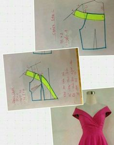 New dress pattern diy neckline 43 Ideas Dress Sewing Patterns, Blouse Patterns, Sewing Patterns Free, Clothing Patterns, Bodice Pattern, Pants Pattern, Make Your Own Clothes, Diy Clothes, Textile Manipulation