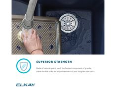 "Elkay Quartz Luxe 35-7/8"" x 19"" x 9"" Single Bowl Undermount Kitchen Sink with Perfect Drain Apron Sink Kitchen, Composite Sinks, Acrylic Resin, Quartz"
