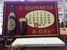 This is a great find for any #collectors out there: A Guinness A Day $175 #guinness #owensound #collectible #homedecor