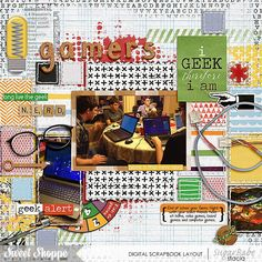 IGeek by Stacia Hall - iGeek by Digilicious Design and Studio Basic Designs; Half Pack 128 - Blocked by Cindy Schneider;  Custom Font