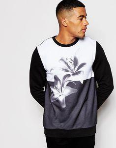 Fabric Mens Emb Panel T Crew Neck Shirt