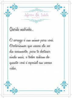 Arte do convite + manual dos padrinhos!! 5