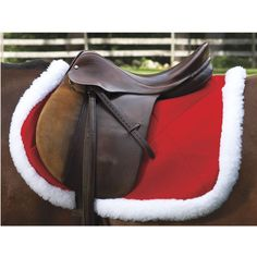 Holiday saddle pad! Too cute.i have this in a western saddle pad . I love it!