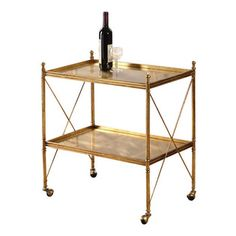 Uttermost - Uttermost - Amaranto Serving Cart In Bright Gold Leaf - 24464 - Amaranto Collection Serving Cart houzz