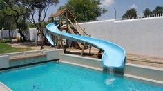 Short and sweet 850 wide water slide Wendy House, Jungle Gym, Water Slides, Boat, Sweet, Outdoor Decor, Fun, Little Cottages, Candy