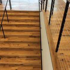 Commercial wood stairs by Woodwright Wood Stairs, Stair Treads, Commercial, Deck, Outdoor Decor, Home Decor, Wooden Ladders, Wooden Stairs, Stair Risers