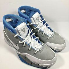 sneakers for cheap aa862 622cc (eBay Sponsored) Nike Kobe 1 Protro MPLS Grey White Blue Kobe Bryant UNC  Retro