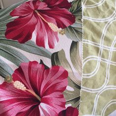 New #midcenturymodern styled #fabrics coming soon to the website! Never get tired of #barkcloth and #trellis designs...  #interiordesign #decorating #diy #slipcover #retro #palms #hibiscus