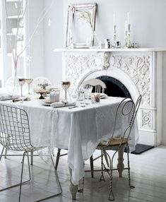 White on white interior design