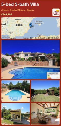 5-bed 3-bath Villa in Javea, Costa Blanca, Spain ►€349,995 #PropertyForSaleInSpain