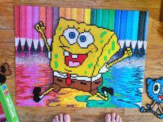SpongeBob perler beads by HigurashiKarly on DeviantArt