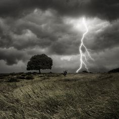 "pedalfar: "" / Photo ""Storm, Thunder and Lightning"" by Carlos Gotay "" Cool Pictures, Cool Photos, Beautiful Pictures, Landscape Photography, Nature Photography, Scenic Photography, Lightning Photography, Riders On The Storm, Thunder And Lightning"