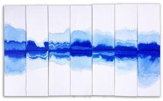 DESIGN / ARTISANAT : La fondatrice de Clé Deborah Osburn a imaginé toute une déclinaison de carreaux de décoration aux couleurs indigos et dorés vert-de-gris. Utilisant des motifs et des techniques de peintures proches de l'art japonais, cette série de créations en porcelaine décorées à la main sont d'une beauté incroyable.