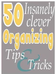 ✨50 Insanely Clever Organizing Tips And Tricks.✨ #Home #Garden #Trusper #Tip