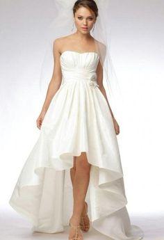 Elegant Designer Strapless High-Low Red Beach Wedding Dresses 2012. $174.00, via Etsy.