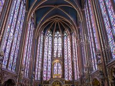 Sainte-Chapelle is a Gothic chapel in the heart of Paris, containing what is perhaps the world's finest 13th-century stained glass. Pictures hardly do it justice: The floor-to-ceiling windows in the upper chapel are even more incredible in person.