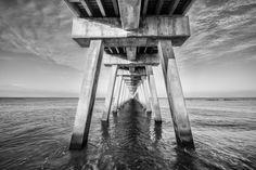 Venice Below the Pier II (2014) Black & white photograph (Giclée) by Jon Glaser | Artfinder