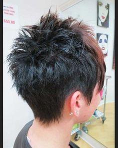 short spiky gray cut - Google Search