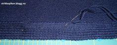 Strikkepiken – Montering av kofte med enkle stolper og i sydde armer Knitted Hats, Knitting, Pants, Fashion, Trouser Pants, Moda, Trousers, Tricot, Fashion Styles