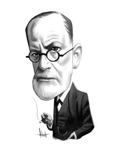 Portraits Caricatures art by Fernando Vicente is in short a catalog of portraits of writers. Portraits of the great writers of universal literature Sigmund Freud, Caricatures, S Freud, Psychology Quotes, Vanitas, Portrait Illustration, New Media, Poster, Blur