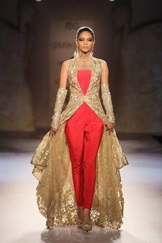 Gaurav Gupta at India Couture Week 2014 - pants with gold long jacket