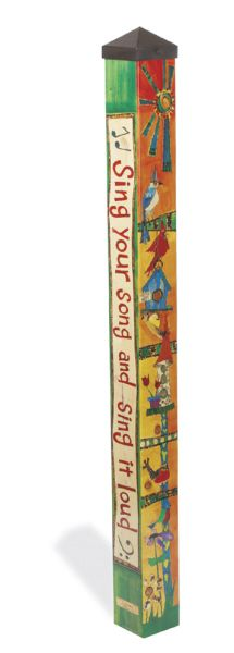 This is a 4' Peace Pole made in the USA!  -Long-lasting and maintenance free.  -Made of strong, lightweight PVC to reduce shipping costs.  -Laminated for fade-resistance and added durability. -Easy to install. No digging necessary.  -All necessary hardware to put in ground is included...peac...