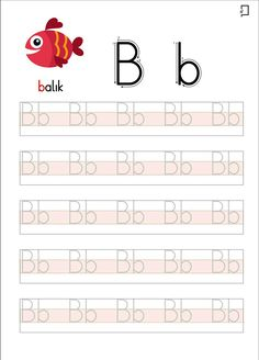 Okul Öncesi Okuma Yazma Etkinlikleri B Harfi Printable Handwriting Worksheets, Alphabet Tracing Worksheets, Preschool Worksheets, Alphabet Writing Practice, Learning Letters, Kindergarten Writing Activities, Teaching Kids, Special Education Math, Arabic Alphabet For Kids