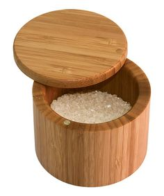 $7  Another great find on #zulily! Bamboo Salt Box #zulilyfinds