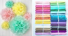 #Tissue pom poms paper flower home wedding birthday tea party #table #decoration,  View more on the LINK: http://www.zeppy.io/product/gb/2/281956096558/