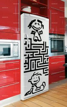 Stckers frigo : Labyrinthe.    http://www.idzif.com/idzif-deco/stickers-deco/stickers-frigo/produit-stckers-frigo-labyrinthe-5584.html