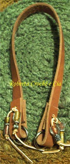 Roberta Crochê e Cia: Passo a passo - Alças para bolsas - Modelo 1