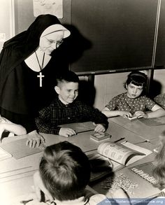 Sister Brendan Harvey, Terre Haute, Ind., around 1969.