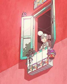 """""""balcón"""" #✏#characterdesign #illustration #ilustracion 👓#🏤#diseñodepersinajes #🌞"""