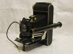 Telescopic viewfinder Old Cameras, Vintage Cameras, Camera Photography, Telescope, Binoculars, Cinema, Antique, Movies, Antiques