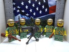 5x LEGO American Marines Battle of Peleliu 1944 w/ M1 Carbine, BAR, M1917 & more #LEGO