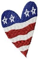 American Heart - 4x4 | 4th of July | Machine Embroidery Designs | SWAKembroidery.com HeartStrings Embroidery