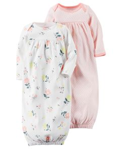 2-Pack Babysoft Sleeper Gowns Baby Girl Gowns b19ebf2d2
