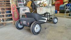 Remrat wagon, rat rod hot rod wheelbarrow wagon, repurposed toolbox.