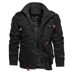 Winter Overcoat Stylish Men Fashion Jacket Outerwear Outdoors Army Jacket Winter Military Jacket Men Hooded Army Jackets and Coats Thick Fleece Parka Windproof Jaqueta Masculina Men Coat Army Clothing Warm Tops Hooded Windbreaker Veste Homme Military Bomber Jacket, Cargo Jacket, Bomber Jackets, Men's Jackets, Military Jackets, Khaki Jacket, Green Jacket, Rugged Style, Style Men