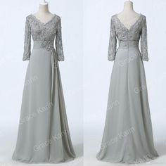 Beautiful Prom Dress Grace Karin New Lace Grey Sexy V Neck Formal Grey Evening Prom Mother'S Of Dresses Cl6247 Betsy And Adam Prom Dresses From Yafex, $31.43| Dhgate.Com