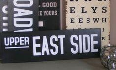 em2281 Sign Upper East Side  *UITVERKOCHT*