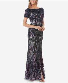 JS Collections Embroidered Lace Gown Women - Dresses - Macy s 5f2406b58