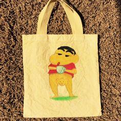 Winnie the Pooh x Shinnosuke bag dyed  yellow