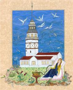 Ruhsar Özer Turkish Art, Middle Earth, Istanbul, Miniatures, Painting, Illustrations, House, Ideas, Bern