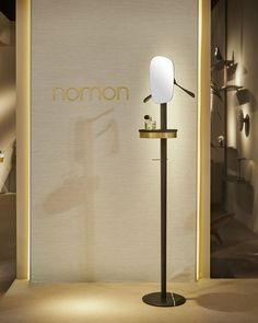 GALAN/VALET STAND W  Stained ash wood with polished brass detail and Sahara Noir marble